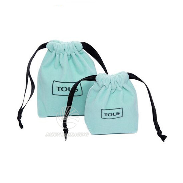Customed velvet jewelry bags for two bottle