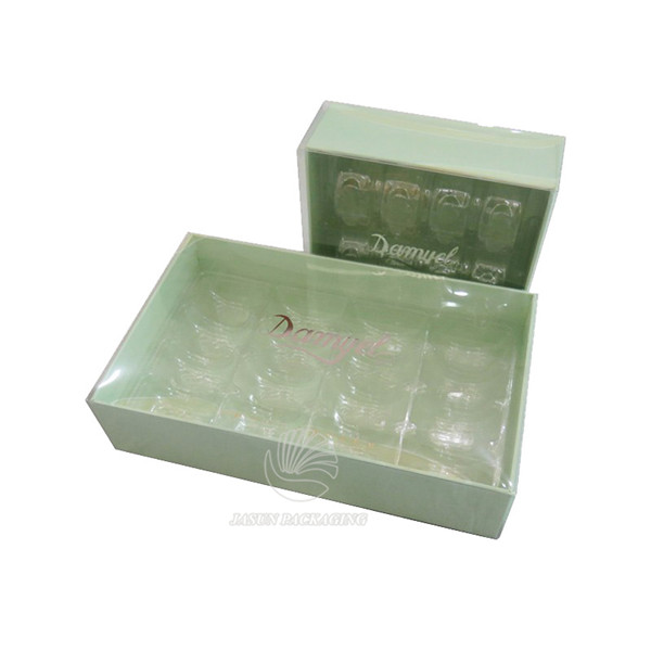 bespoke clear PVC lid gift presentation boxes title=