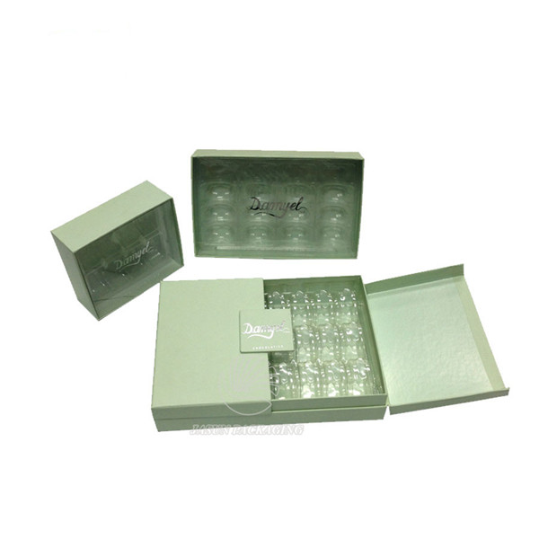 bespoke clear PVC lid gift presentation boxes