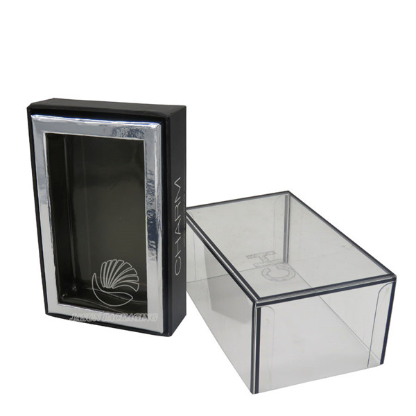 clear plastic lid cardboard set up box