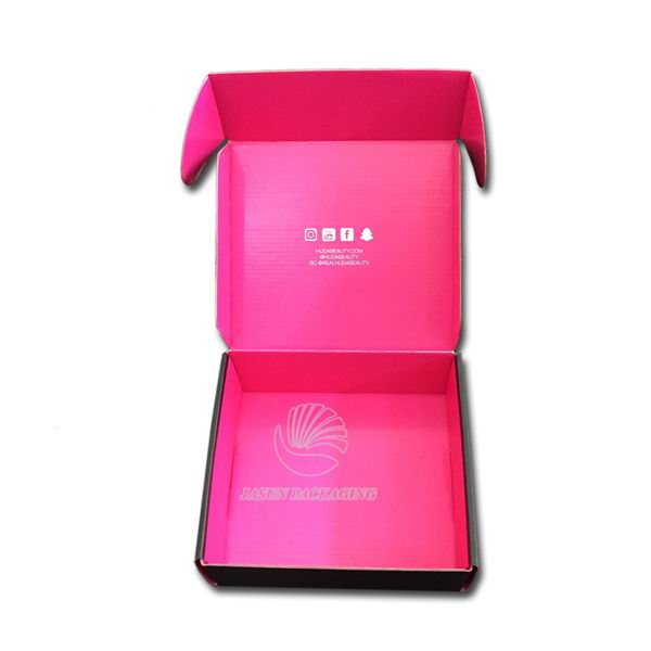Black Cheap Wholesale Flat Pack Mailing Paper Box Shipping