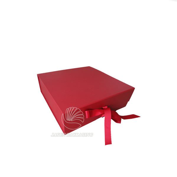 factory custom magnetic red rigid paper