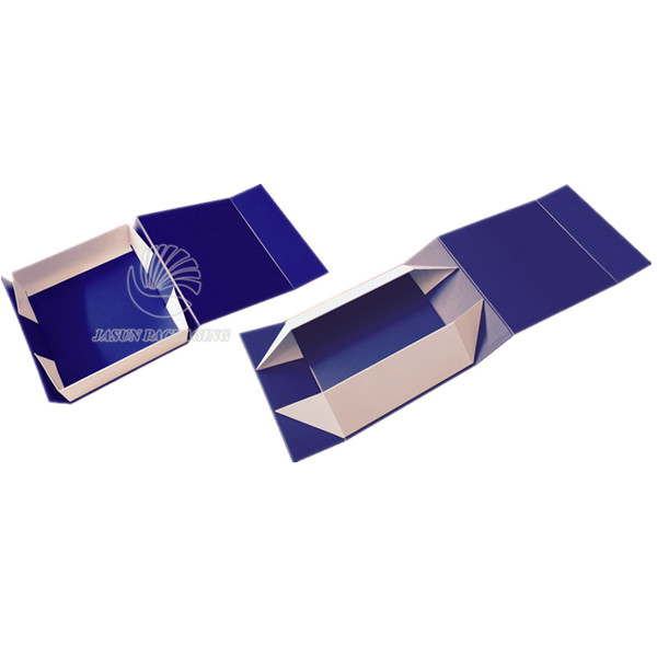New Dark Blue Square Gift Packing Folded