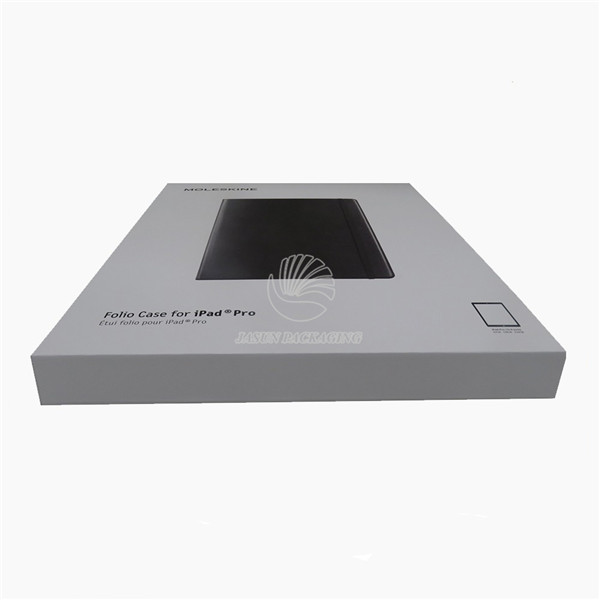 Rigid Grey Tablet PC Packaging Box With clear window