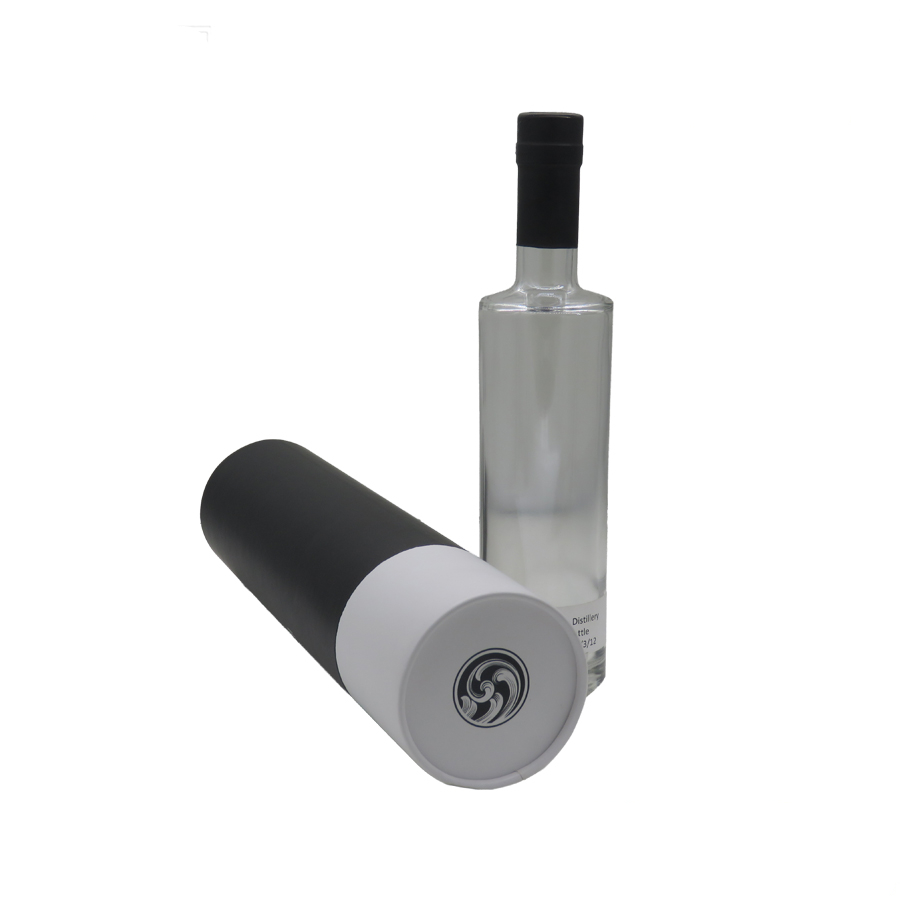 Full printed paper tube single bottle wine