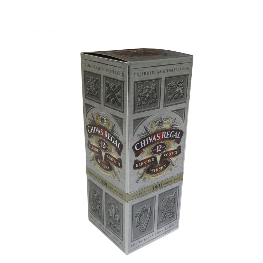 brand wine vodka packaging gift box silver