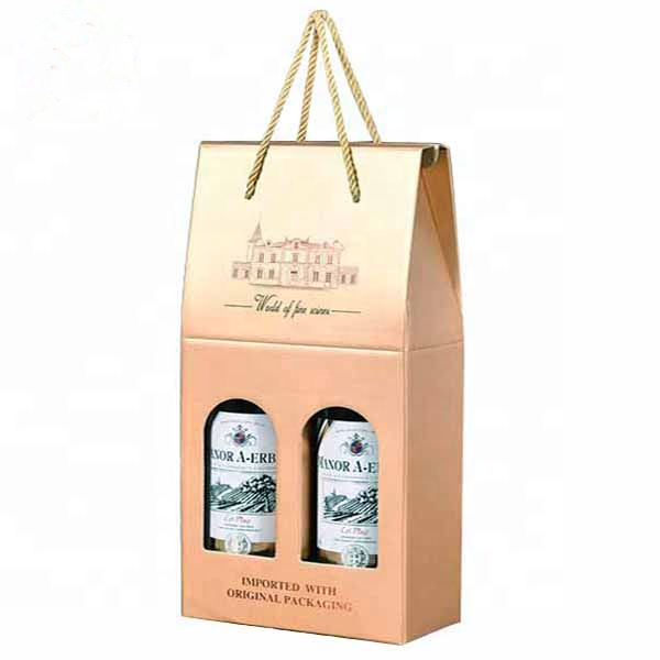 Custom Printed 2 Bottle Luxury Gift Paper