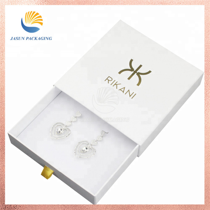Custom white box magnetic packaging jewellery girls