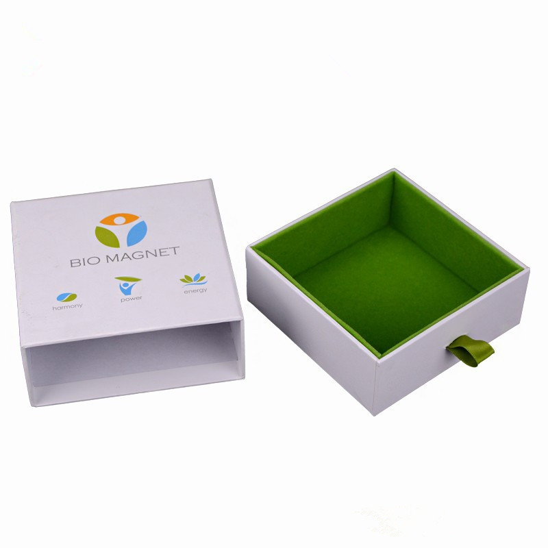 Drawer Type Box with Ribbon Puller Bracelet Box