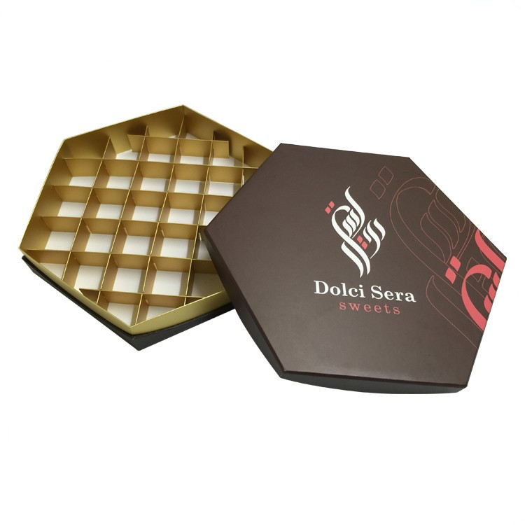 Elegant Luxury Larger Cardboard Chocolate Box Paper title=