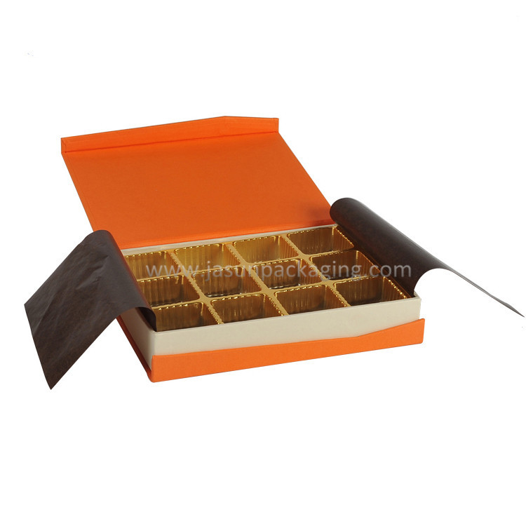 High end chocolate cardboard paper one piece box title=
