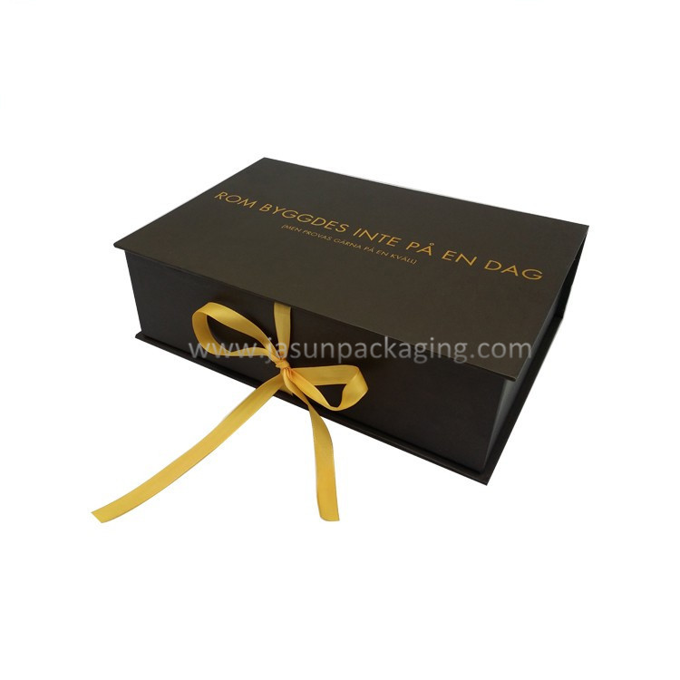 Custom logo magnetic chocolate boxes with ribbon