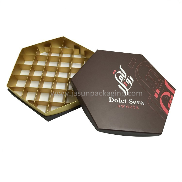 Elegant Luxury Larger Cardboard Chocolate Box Paper
