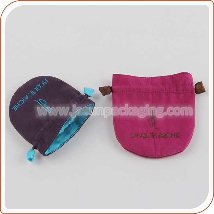 Fashion design round velvet gift bags with